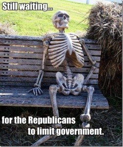 Waiting on Republicans to limit government